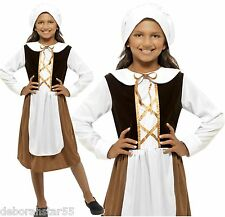 Girls Medieval Tudor Maid Wench Book Week Fancy Dress Costume 4-12 years Smffy's