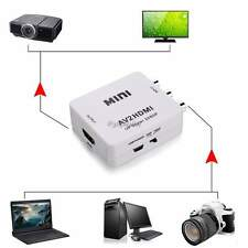 AV CVBS 3RCA to HDMI Video Converter Box Adapter For PC Laptop Projector 35DI