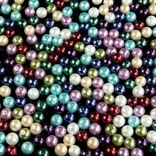 Colorful Czech Glass Pearl Round Spacer Loose Beads 4mm 6mm 8mm 10mm jewelry DIY
