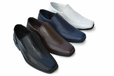 KM-1814 New Men`s Dress Formal Loafers Shoes Slip-on Moc Toe Size 7~12