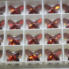 Swarovski  Elements 2854 18mm Butterfly Flat back CRYSTAL RED MAGMA FOILED
