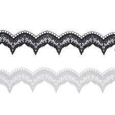 3YDS Embroidery Guipure Lace Trim Ribbon Scalloped Edge Wedding Sewing Craft DIY
