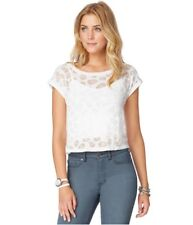Aeropostale Womens Burnout Skull Embellished T-Shirt