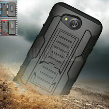 Heavy Duty Rugged Hybrid Hard Case Cover Holster For Kyocera Hydro Wave / Air