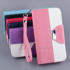 Leather Flip Money Wallet Card Hold Pouch Stand Hard Protector Skin Case Cover