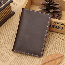 Mens Genuine Leather Slim Cowhide Wallet ID Credit Card Coin Holder Case Purse