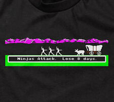 NINJAS ATTACK T-SHIRT oregon trail parody you have died of dysentery funny mens