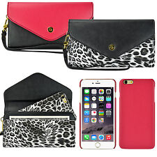 For iPhone 6 6s Plus 2 in 1 Luxury Leather Card Wristlet Purse Wallet Case Cover