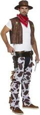 Mens Cowboy Fancy Dress Costume Chaps Hat Waistcoat Western Adult Woody Rodeo