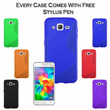 S-Line Wave TPU Soft Silicone Gel Grip Back Case Cover For Samsung Galaxy J2