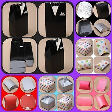 Jewellery Pillow Pack Wedding Favour Gift Box heart daisy tuxedo glitter lot