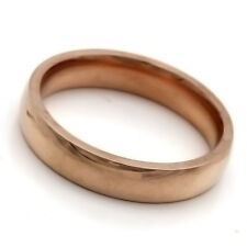 Stainless Steel Ring No Stone Gold Mens Womens Band Ring Size 6 7 8 9