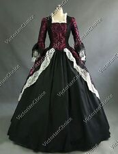 Renaissance Victorian Dress Gown Theater Witch Vampire Halloween Costumes 164
