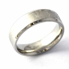 """White Gold Filled stainless steel """"X- XIII"""" Promise Love Band Ring Size 7-11"""