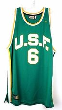 U.S.F. #6 Bill Russell Green Yellow College Vintage Throwback Basketball Jersey