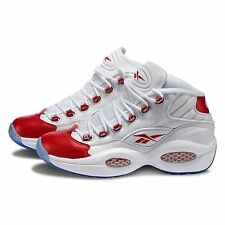 Reebok Question Mid PEARLIZED RED Toe White Allen Iverson AI 79757 OG 20th Anni