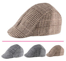 Classic Mens Cotton Beret Gatsby Cap Ivy Hat Newsboy Golf Flat Cabbie Hats ETU