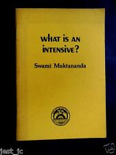Swami Muktananda What is an Intensive? 1976 1st Ed