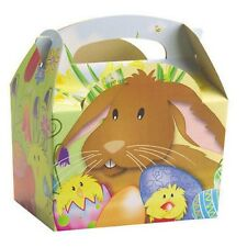 10 Easter Parade Egg Hunt Bunny Chick Carry Meal Bag Boxes ~ Kids Party Food Box