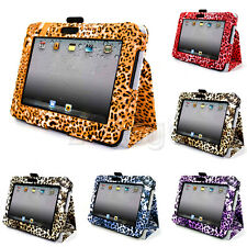 New Leopard Print Folio Stand Leather Pouch Case for Amazon Kindle Fire HD 7 EW