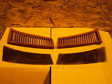 1975 Mercedes W107 450SL Left & Right Top Cowl Vents Trim OEM With Screens