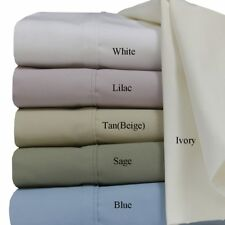 Cotton Percale Weave Solid Sheet Set 300 Thread Count Deep Pocket