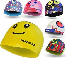 NEW - Head Childrens Silicone Swim Cap - Fun Cool Designs Kids Girls Boys