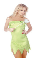 Ladies Womens Tinkerbell Fairy Fancy Dress Up Costume Wings Wand Full Plus Size