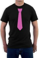 Printed Pink Tie Tuxedo Funny T-Shirt Novelty Gift