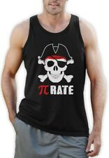 Pi-Rate - Funny Math Pirate Skull and Crossbones Singlet Cool