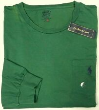 NWT $49 Polo Ralph Lauren Pocket T Shirt Mens Long Sleeve XLT NEW WITH DEFECTS