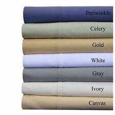 1000TC Scala Brand  6Pc Sheet Set 100% Pima Cotton Solid With Extra Deep Pocket