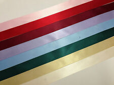 2 x 10 metres 25mm Double Faced Satin Ribbon for Decoracting Favours