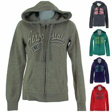 Aeropostale Womens Juniors Full Zip Hooded Hoodie Sweatshirt w/Front Pockets New
