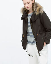 NWT AUTH ZARA LINED PARKA WITH DETACHABLE HOOD 5854/023/507 $149