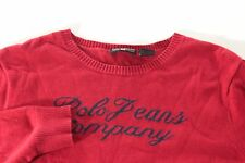 Ralph Lauren Girls XL Red Knit Crewneck Sweater Pullover Long Sleeve Shirt Top