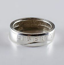 Coin Ring *Top Quality* 90% Silver Quarter Heads Double Sided - Proof 1960-1964