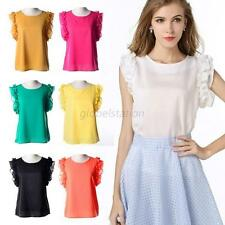 Chic Women Casual Short Sleeve Loose Summer T-shirt Tops Shirt Blouse Pullover
