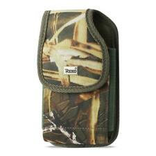 OEM REIKO Camouflage Vertical Rugged Canvas Belt Clip Case Pouch for ZTE Phones