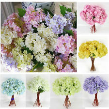 Bridal Wedding Party Artificial Craft Hydrangea Bouquet Home Decor Silk Flowers