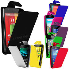 Premium PU Leather Flip Case Cover Pouch For Various Mobile Phones