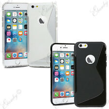 iPhone 6/ 6s Case Gel TPU Rubber Silicone Case Cover  + FREE 2 Screen Protector