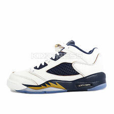 Nike Air Jordan 5 Retro Low GS [819171-135] Basketball Dunk From Above White/Nvy