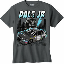 2016 DALE EARNHARDT JR #88 BATMAN Vs SUPERMAN YOUTH CHARCOAL NASCAR TEE SHIRT