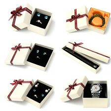 Hot Present Gift Boxes Case For Necklace Ring Earring Jewelry Watch Box Lots H19