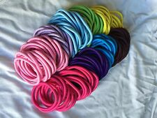 20x New Quality Colored THICK Endless Hair Elastics Bobbles Bands Snag Free
