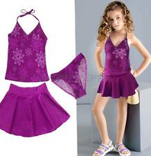 Girls Toddler Kids Floral Tankini Swimsuit Bathing Suit Swim Tops Skirt Swimwear