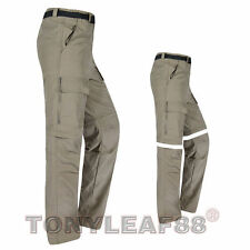 Mens Quick Dry Zip Off Convertible Pants Shorts Outdoor Hiking Fishing Trousers