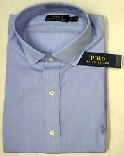 NWT $98 Polo Ralph Lauren Dress Shirt Mens 15 17 18  32/33 34/35 Blue Cotton NEW