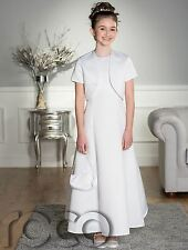 White Communion Dress, Girls White Dress, Holy Communion Wear, Bolero